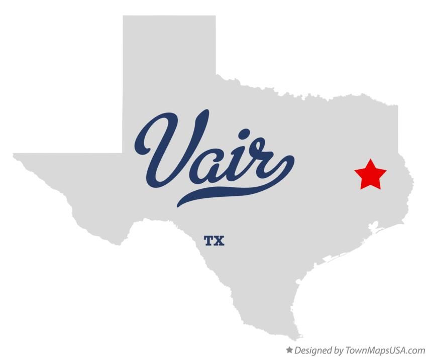 Map of Vair Texas TX