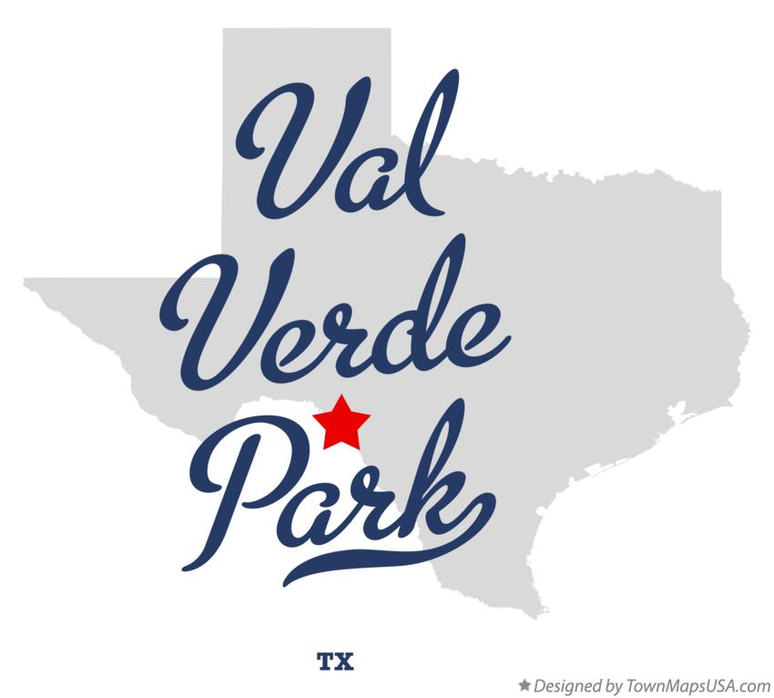 Map of Val Verde Park Texas TX