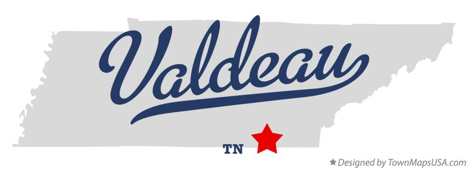 Map of Valdeau Tennessee TN