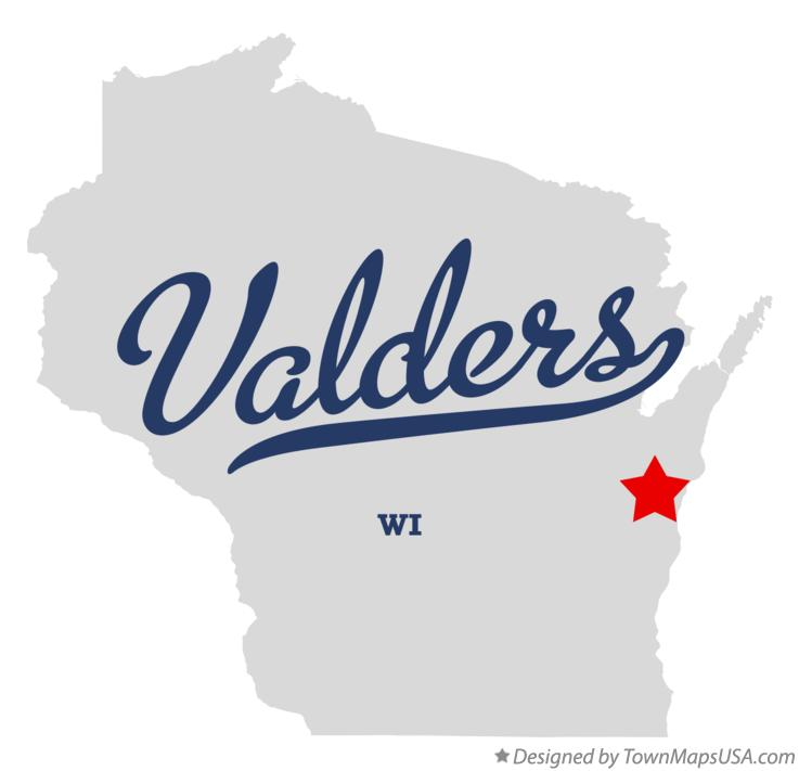 Map of Valders Wisconsin WI