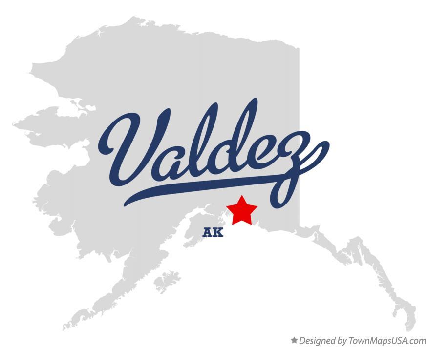 Valdez Alaska Map Map of Valdez Alaska ak