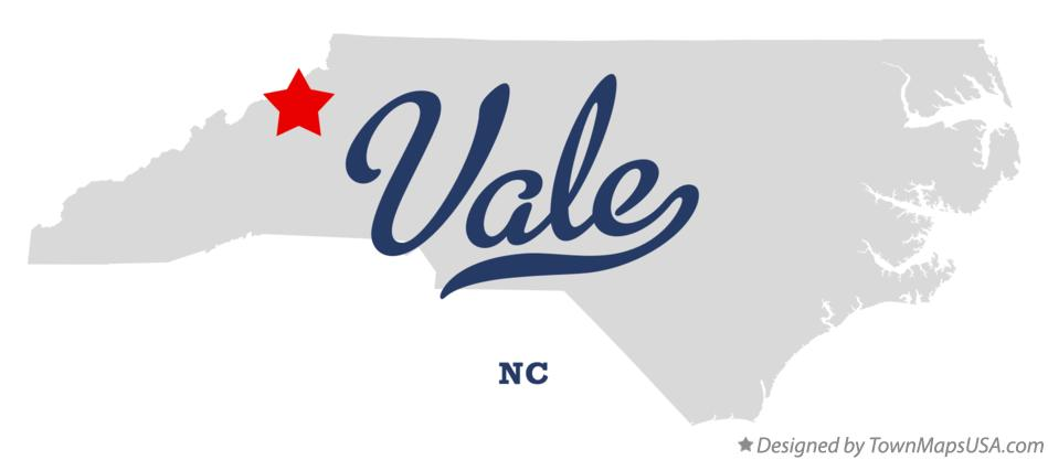 Map of Vale North Carolina NC