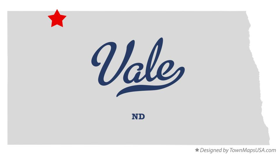 Map of Vale North Dakota ND