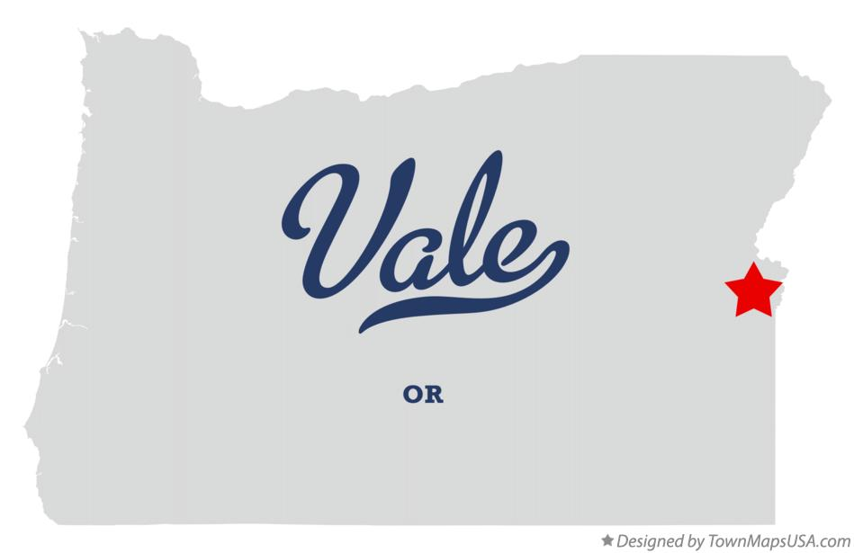 Map of Vale Oregon OR