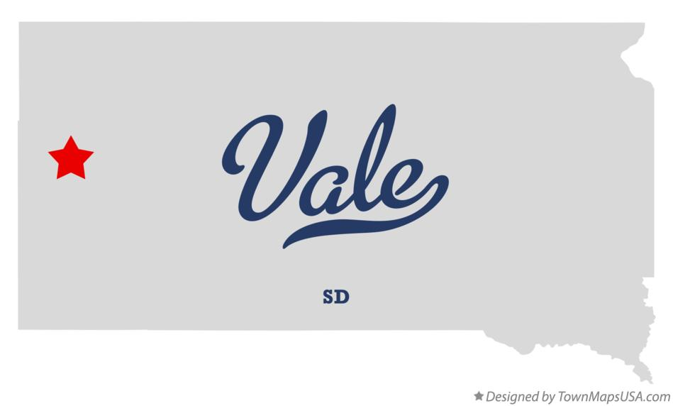 Map of Vale South Dakota SD