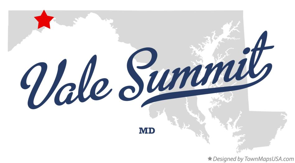 Map of Vale Summit Maryland MD