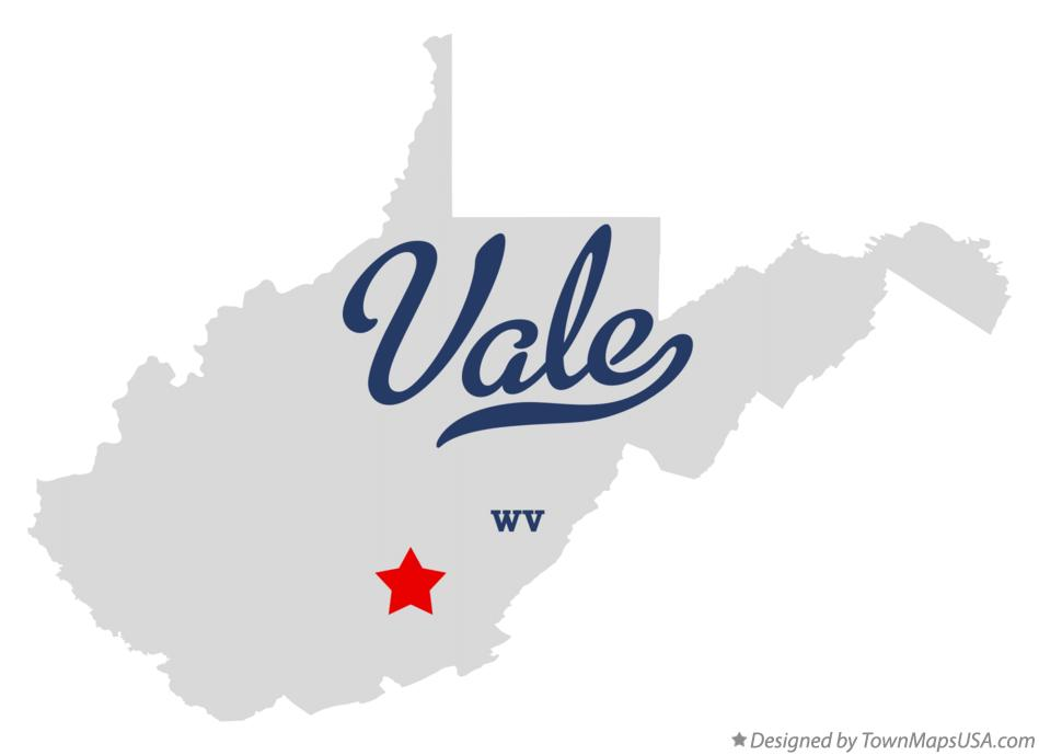 Map of Vale West Virginia WV