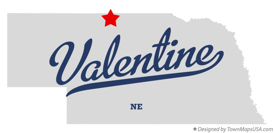 Map of Valentine Nebraska NE
