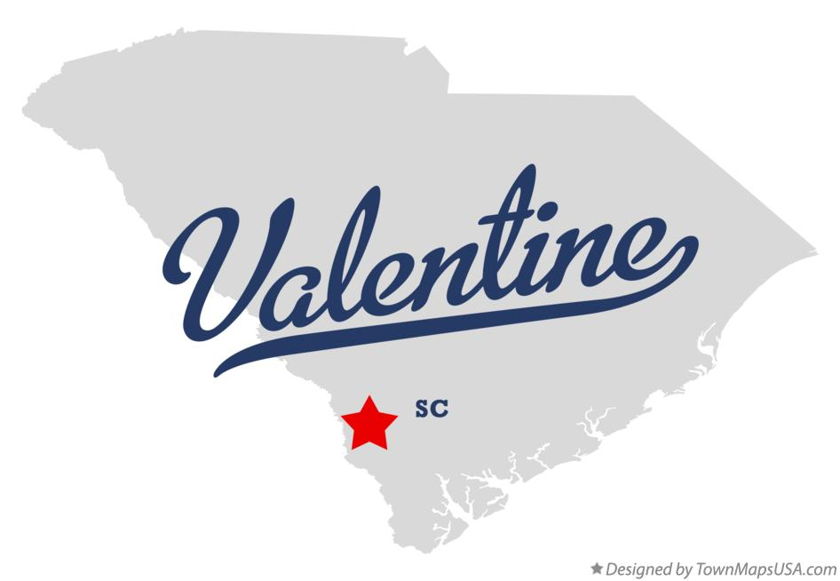 Map of Valentine South Carolina SC