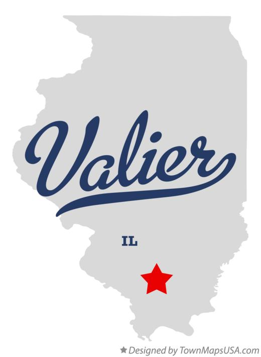 Map of Valier Illinois IL