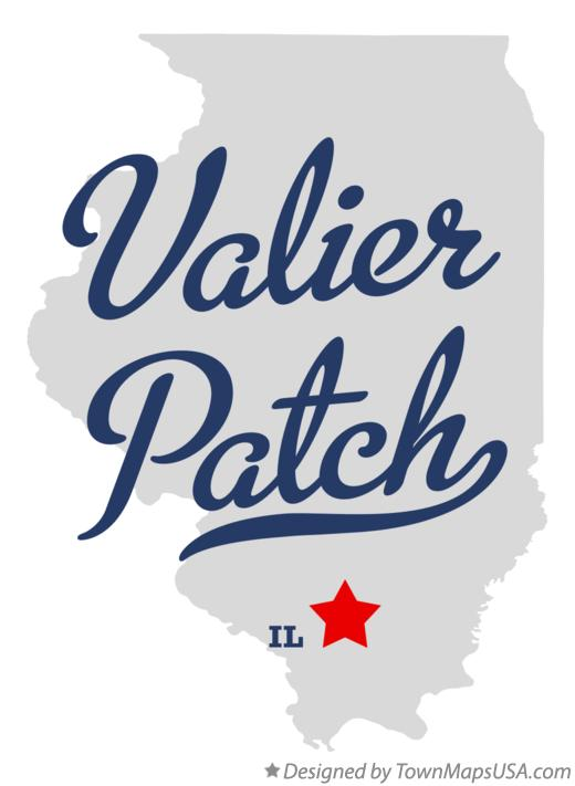 Map of Valier Patch Illinois IL