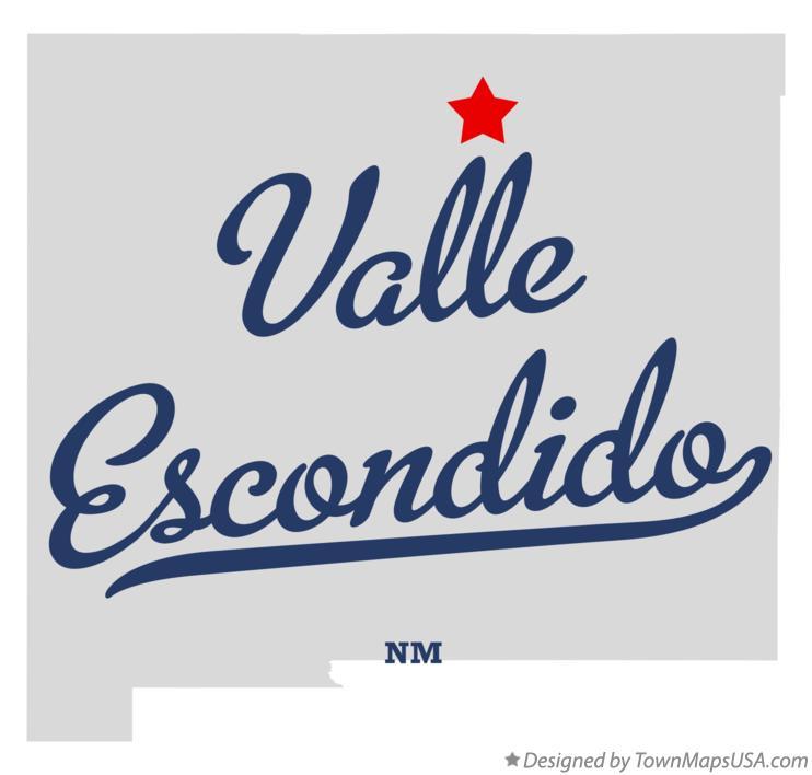 Map of Valle Escondido New Mexico NM