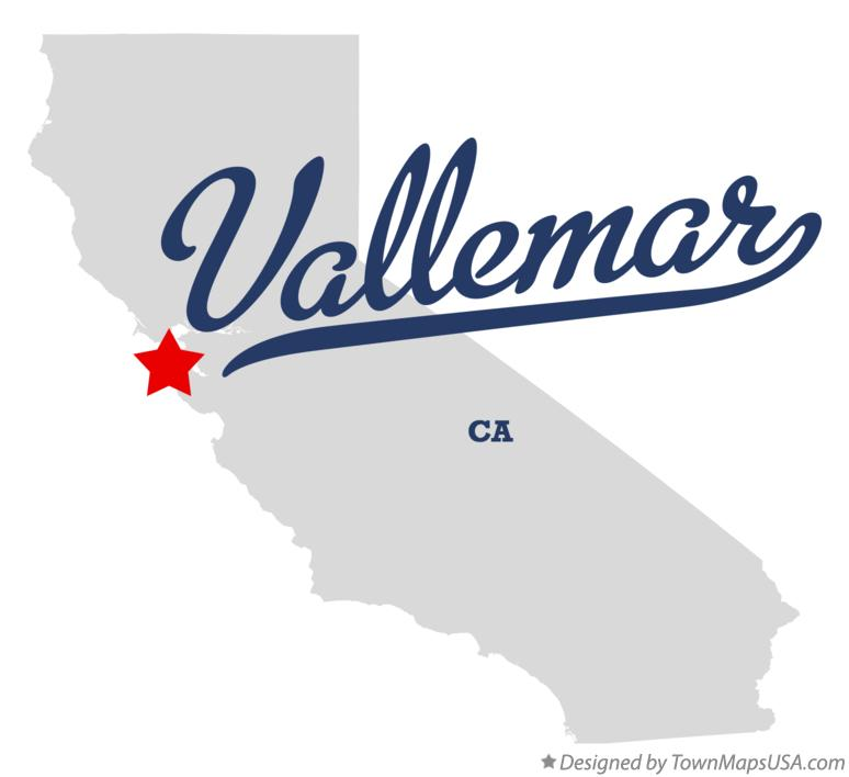 Map of Vallemar California CA