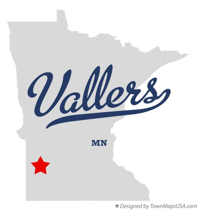 Map of Vallers Minnesota MN