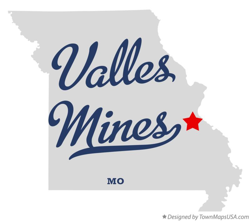 Map of Valles Mines Missouri MO