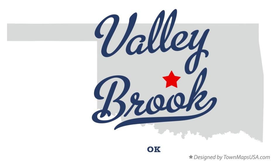 Map of Valley Brook Oklahoma OK
