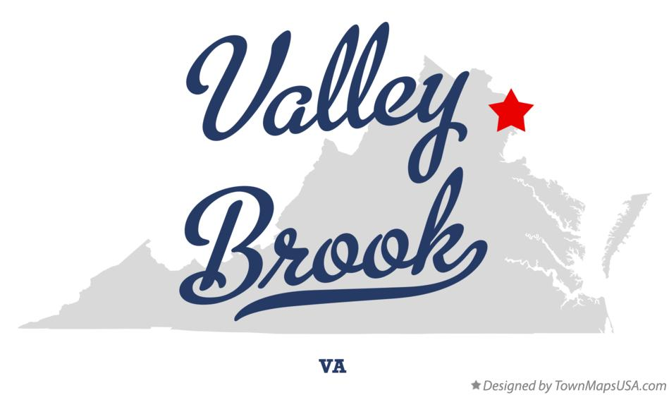 Map of Valley Brook Virginia VA