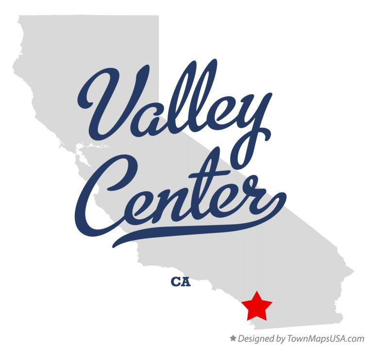 Map of Valley Center California CA