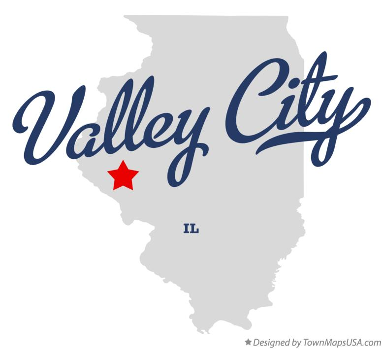 Map of Valley City Illinois IL