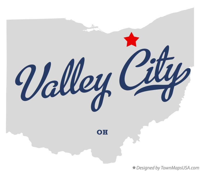 Map of Valley City Ohio OH
