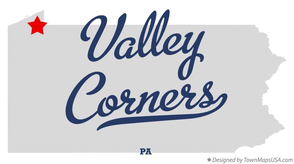 Map of Valley Corners Pennsylvania PA
