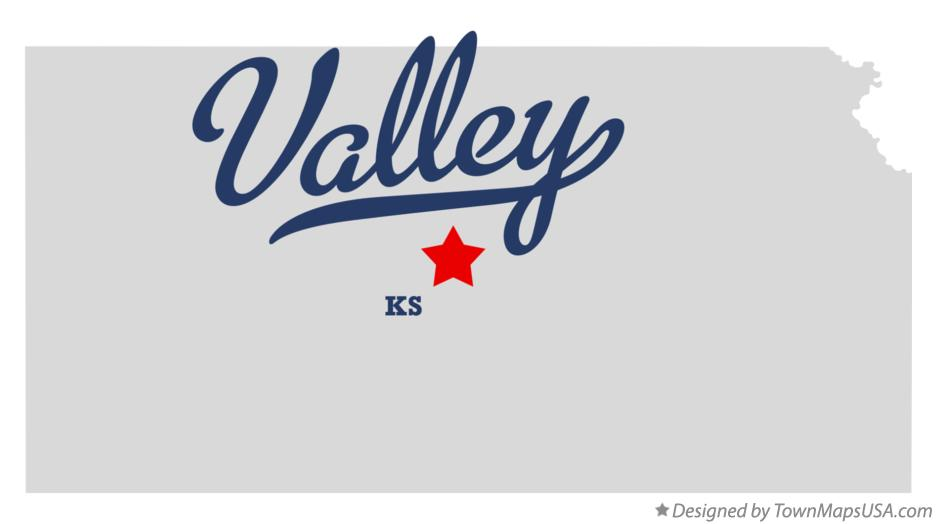 Map of Valley Kansas KS