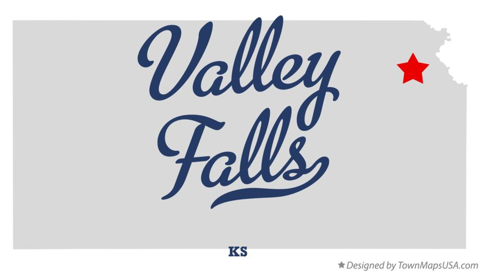 Map of Valley Falls Kansas KS