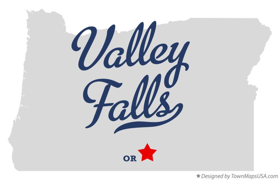 Map of Valley Falls Oregon OR