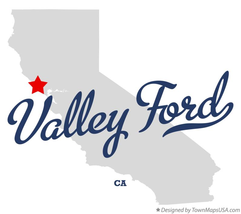 Map of Valley Ford California CA