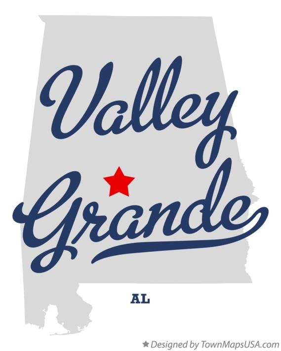 Map of Valley Grande Alabama AL