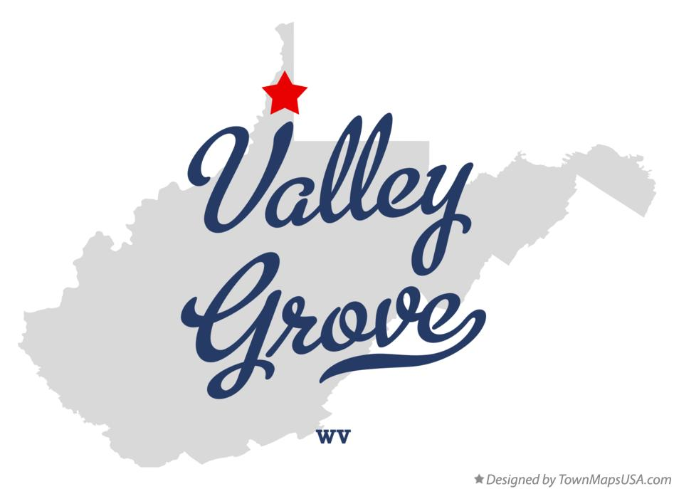 Map of Valley Grove West Virginia WV