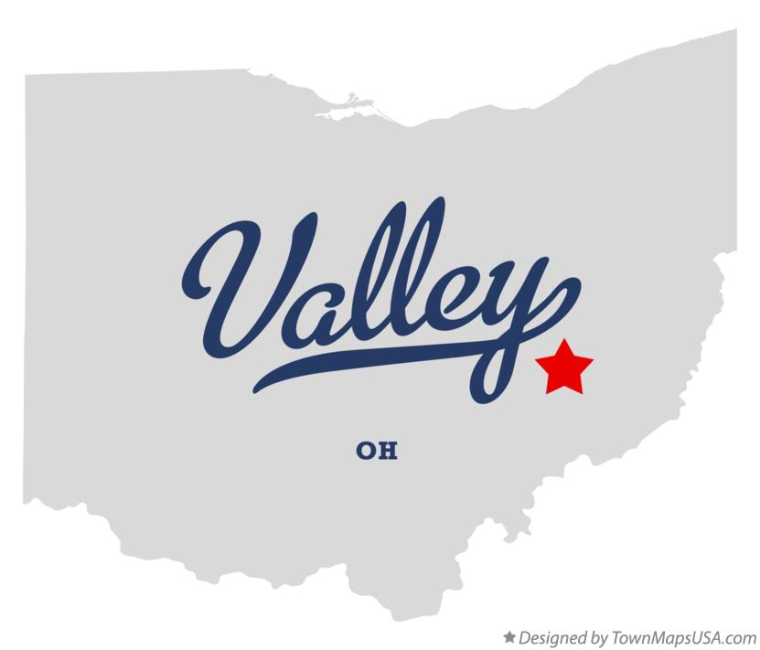 Map of Valley Ohio OH