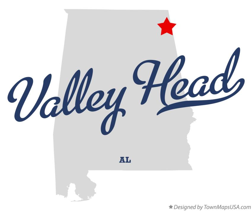 Map of Valley Head Alabama AL