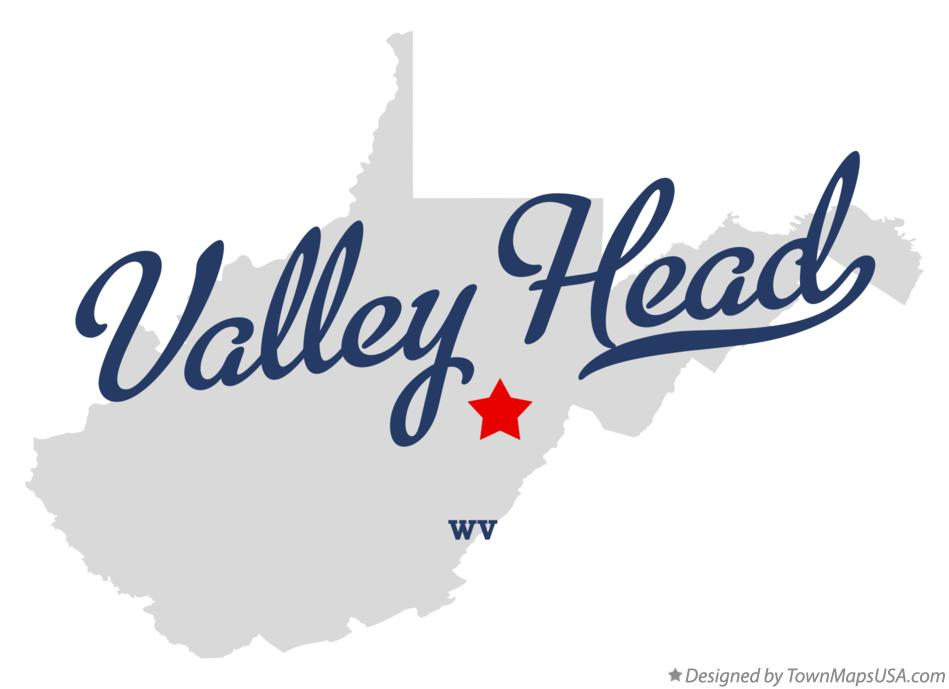 Map of Valley Head West Virginia WV