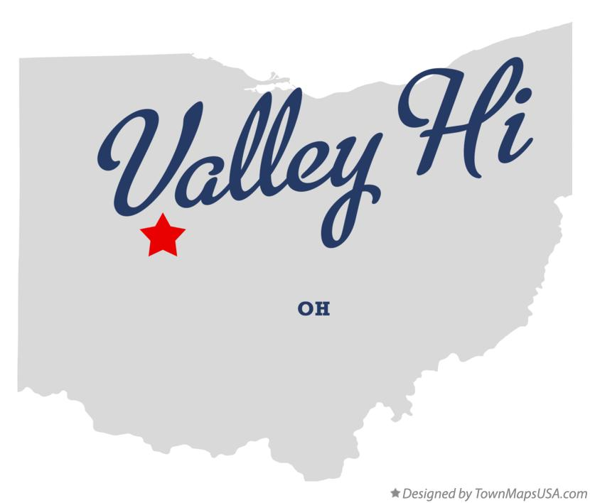 Map of Valley Hi Ohio OH