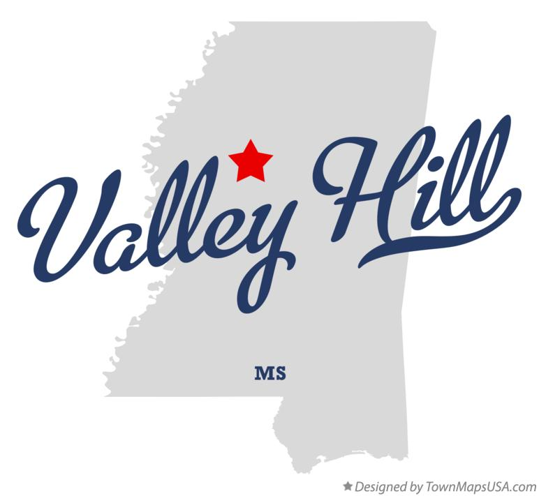 Map of Valley Hill Mississippi MS