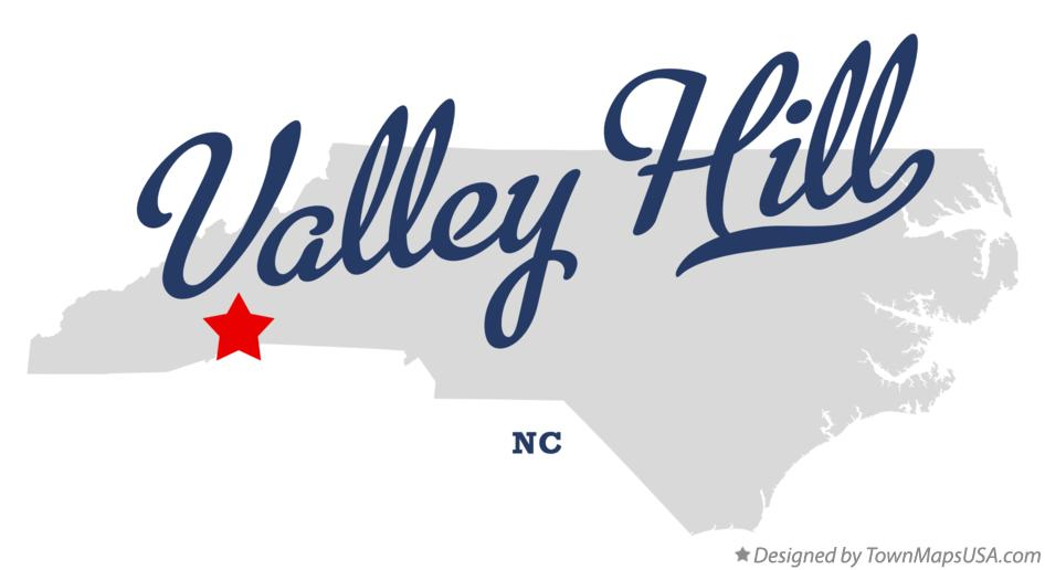 Map of Valley Hill North Carolina NC