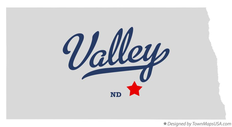 Map of Valley North Dakota ND