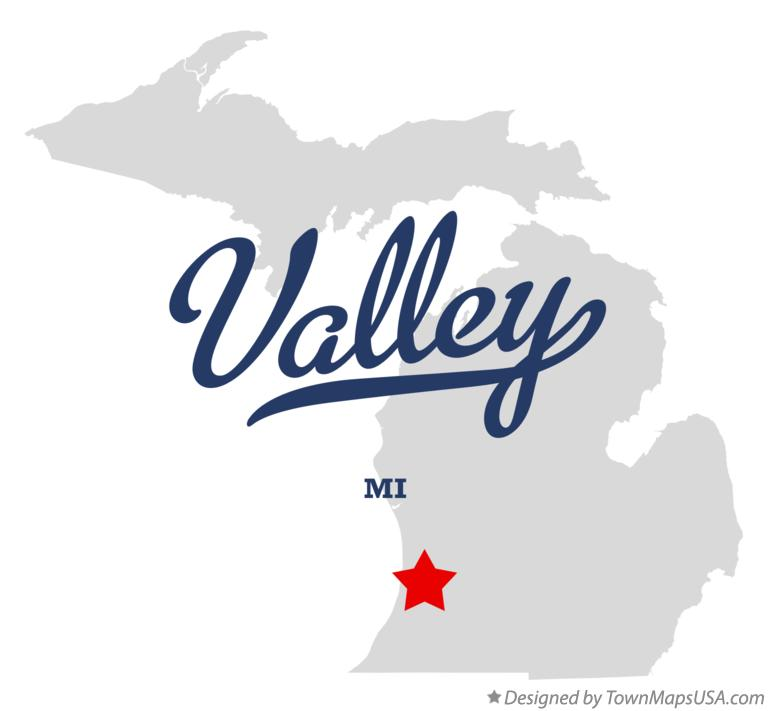 Map of Valley Michigan MI