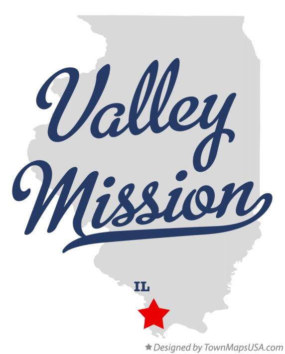 Map of Valley Mission Illinois IL