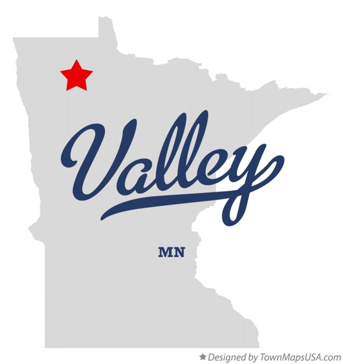 Map of Valley Minnesota MN