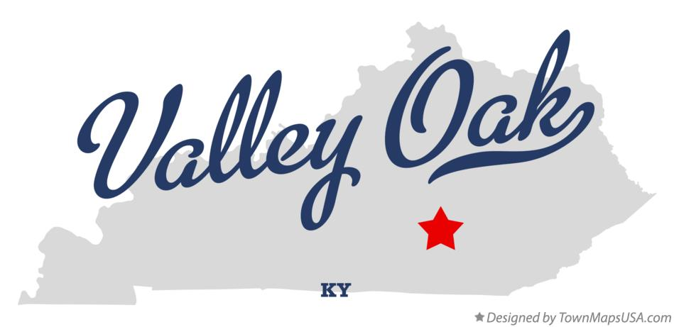 Map of Valley Oak Kentucky KY