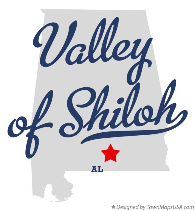 Map of Valley of Shiloh Alabama AL