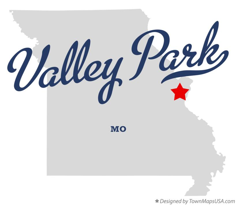 Map of Valley Park Missouri MO