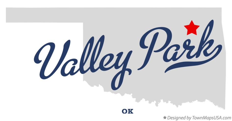 Map of Valley Park Oklahoma OK