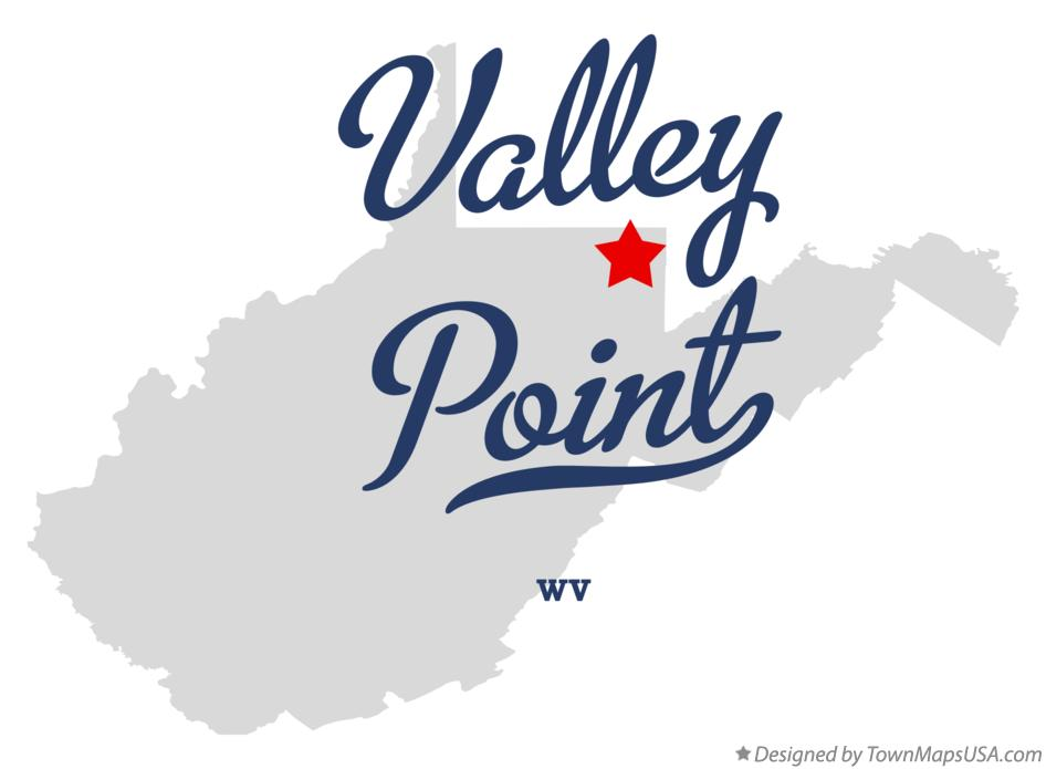 Map of Valley Point West Virginia WV