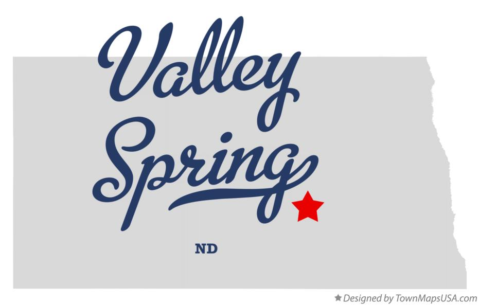 Map of Valley Spring North Dakota ND