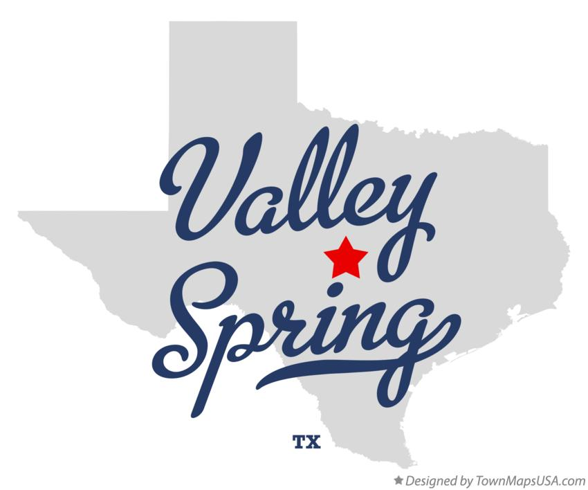 Map of Valley Spring Texas TX