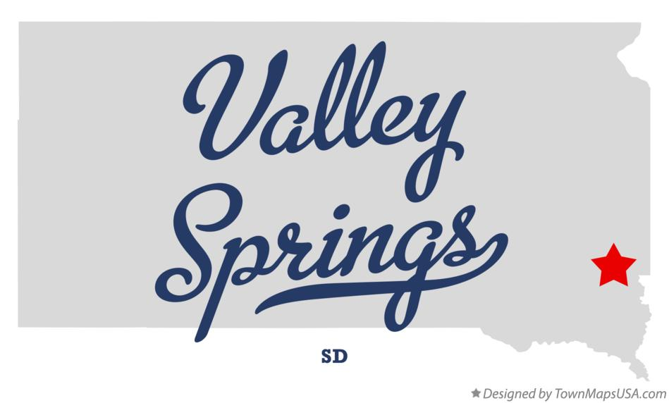 Map of Valley Springs South Dakota SD