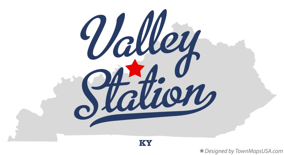 Map of Valley Station Kentucky KY
